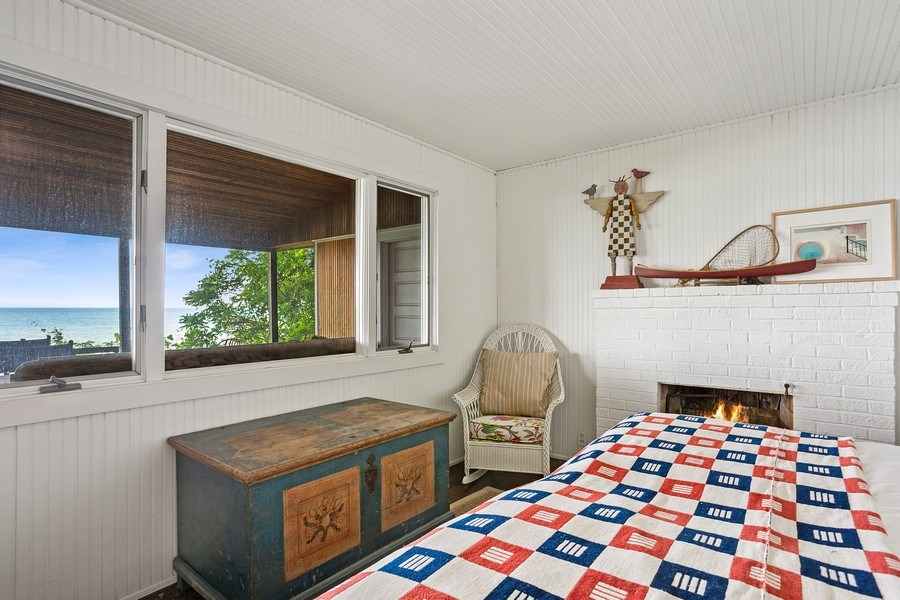 Real Estate Photography - 15120 Lakeshore Road, Lakeside, MI, 49116 - Guest House Bedroom