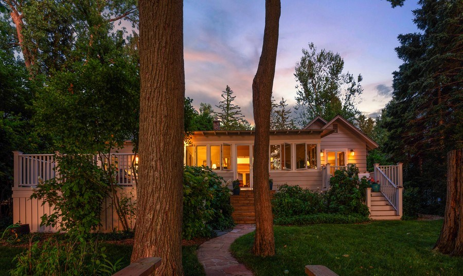 Real Estate Photography - 15120 Lakeshore Road, Lakeside, MI, 49116 - Lakeside View of Home/ VHT Edit Ver w/ stair raili