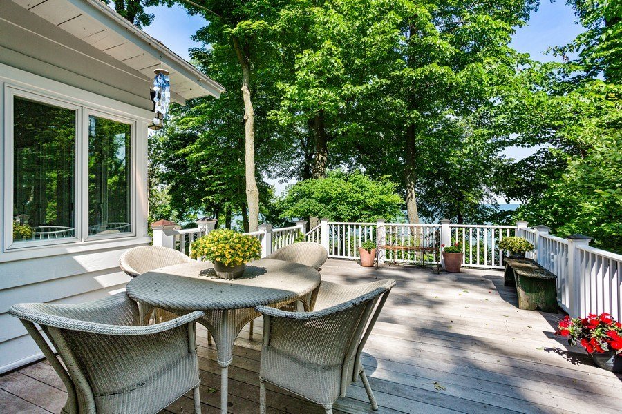 Real Estate Photography - 15120 Lakeshore Road, Lakeside, MI, 49116 - Deck