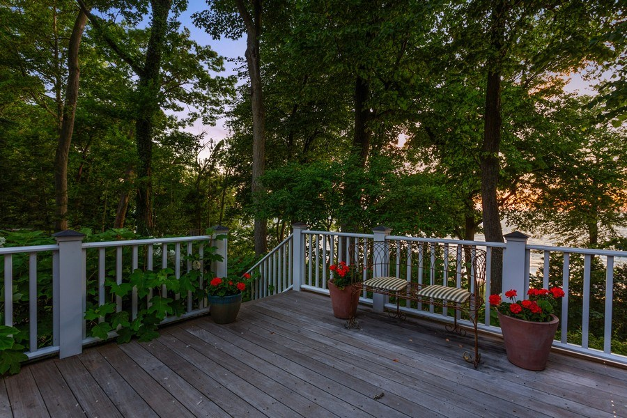 Real Estate Photography - 15120 Lakeshore Road, Lakeside, MI, 49116 - Deck from Kitchen