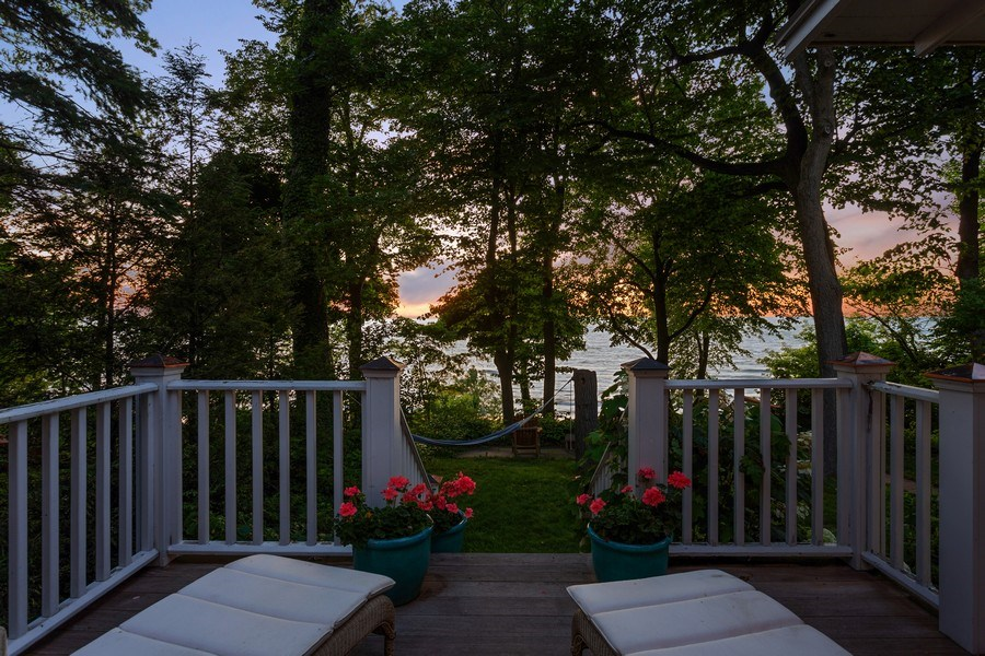 Real Estate Photography - 15120 Lakeshore Road, Lakeside, MI, 49116 - Deck from 2nd Bedroom