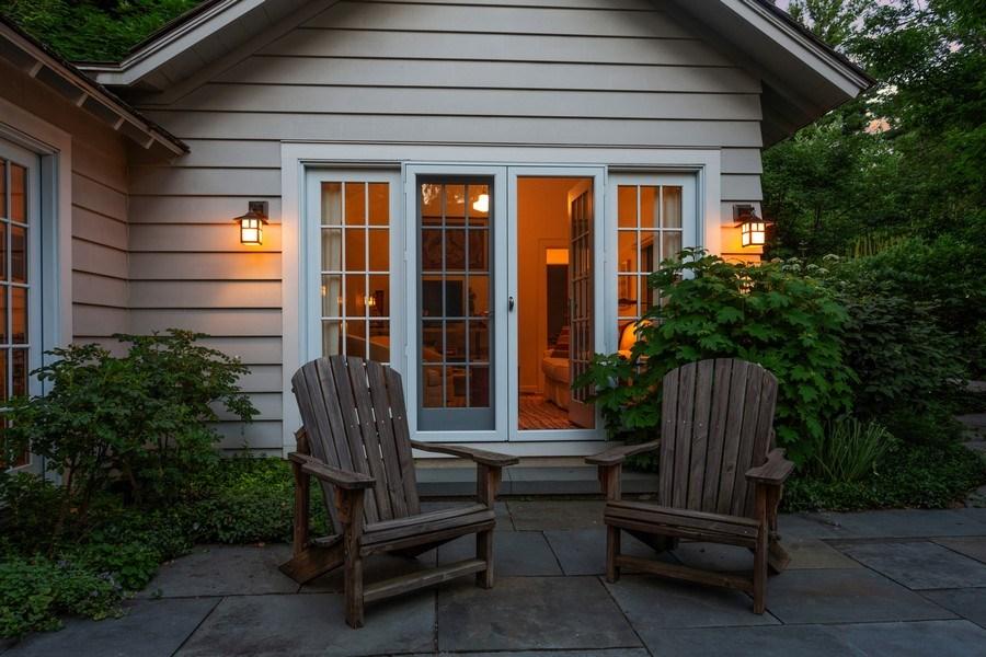 Real Estate Photography - 15120 Lakeshore Road, Lakeside, MI, 49116 - Courtyard into Den