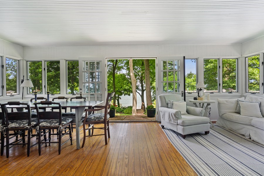 Real Estate Photography - 15120 Lakeshore Road, Lakeside, MI, 49116 - Sun Room Wide View