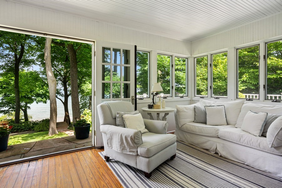 Real Estate Photography - 15120 Lakeshore Road, Lakeside, MI, 49116 - Sunroom