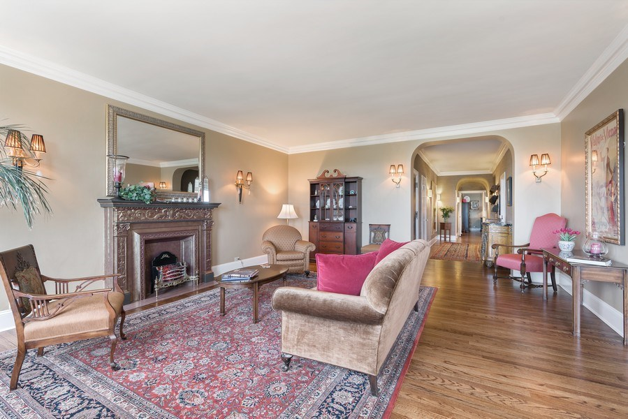 Real Estate Photography - 3530 N. Lake Shore, #8A, Chicago, IL, 60657 - Living Room