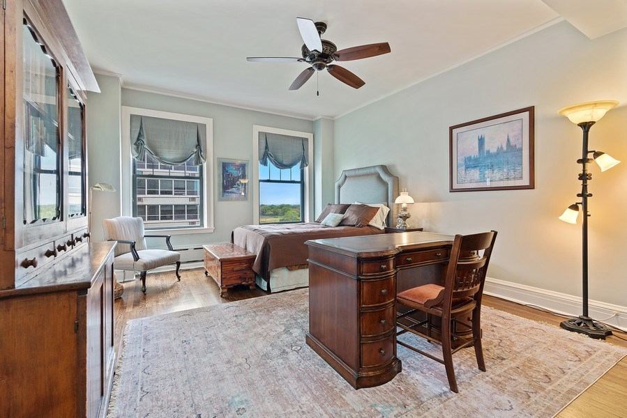 Real Estate Photography - 3530 N. Lake Shore, #8A, Chicago, IL, 60657 - 2nd Bedroom