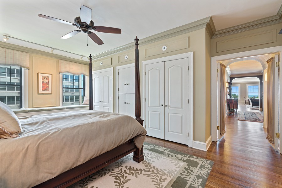 Real Estate Photography - 3530 N. Lake Shore, #8A, Chicago, IL, 60657 - Master Bedroom