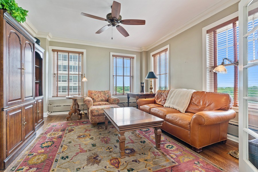 Real Estate Photography - 3530 N. Lake Shore, #8A, Chicago, IL, 60657 - Family Room