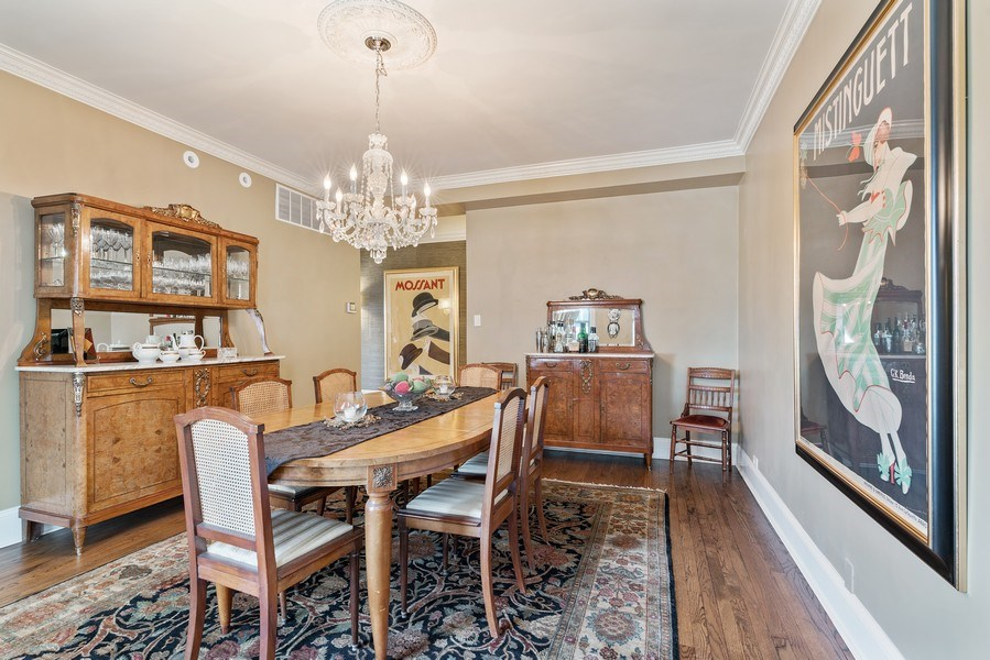 Real Estate Photography - 3530 N. Lake Shore, #8A, Chicago, IL, 60657 - Dining Room
