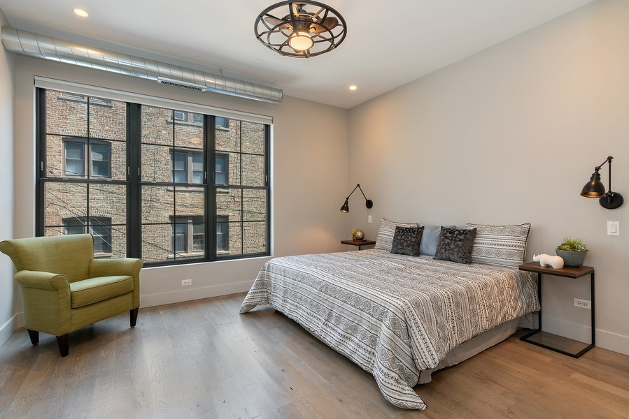 Real Estate Photography - 1902 W. Division, #2N, Chicago, IL, 60622 - Master Bedroom