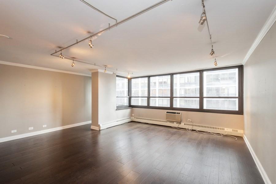 Real Estate Photography - 33 E Cedar, Unit 11 A, Chicago, IL, 60611 - Living Room