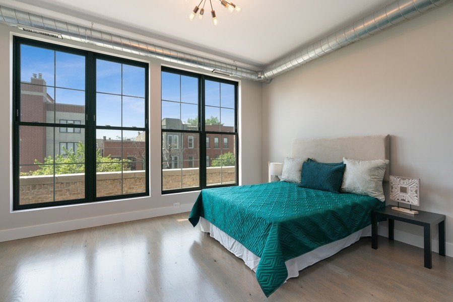 Real Estate Photography - 1904 W. Division, #3S, Chicago, IL, 60622 - 2nd Bedroom