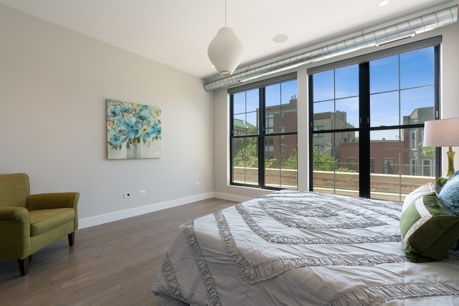 Real Estate Photography - 1904 W. Division, #3S, Chicago, IL, 60622 - Master Bedroom