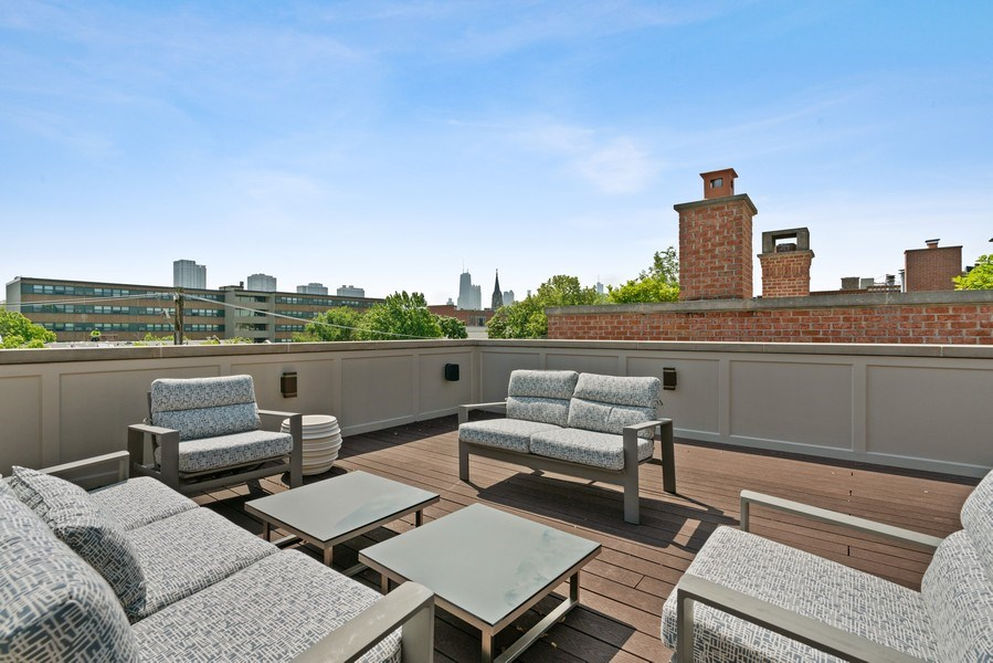 Real Estate Photography - 1905 N. Howe, Chicago, IL, 60614 - Penthouse Roof Deck