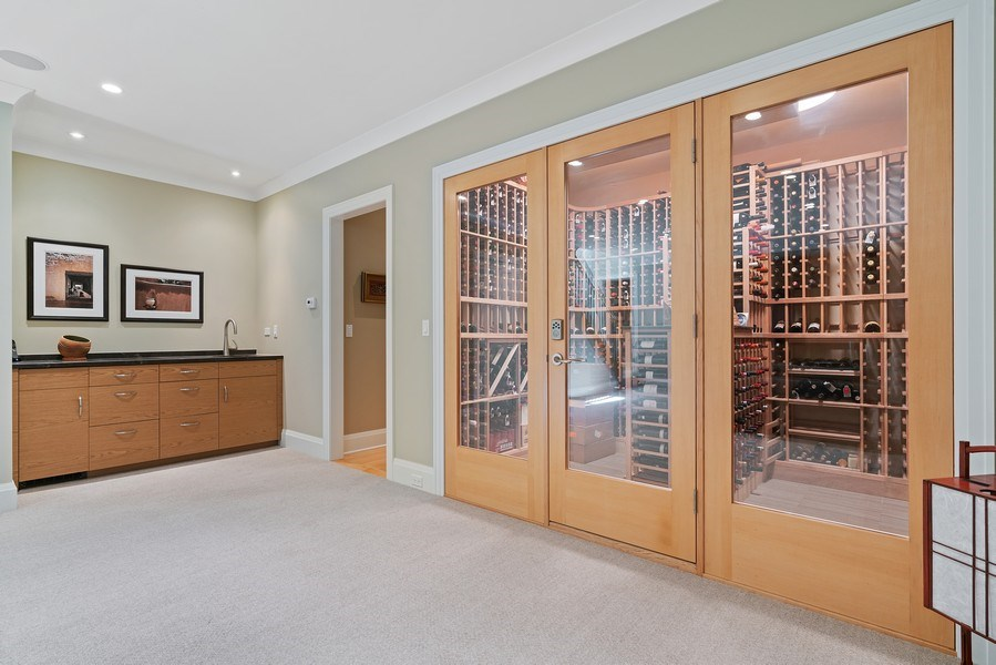 Real Estate Photography - 1905 N. Howe, Chicago, IL, 60614 - Wine Cellar