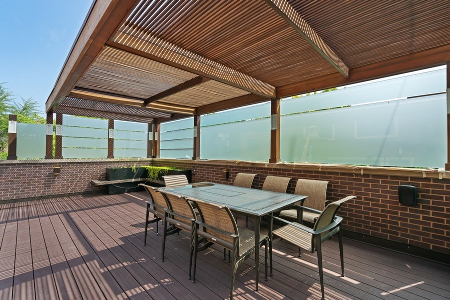 Real Estate Photography - 1905 N. Howe, Chicago, IL, 60614 - Garage Roof Deck