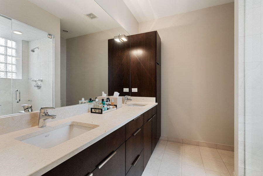 Real Estate Photography - 685 N. Peoria, #4S, Chicago, IL, 60642 - Master Bathroom