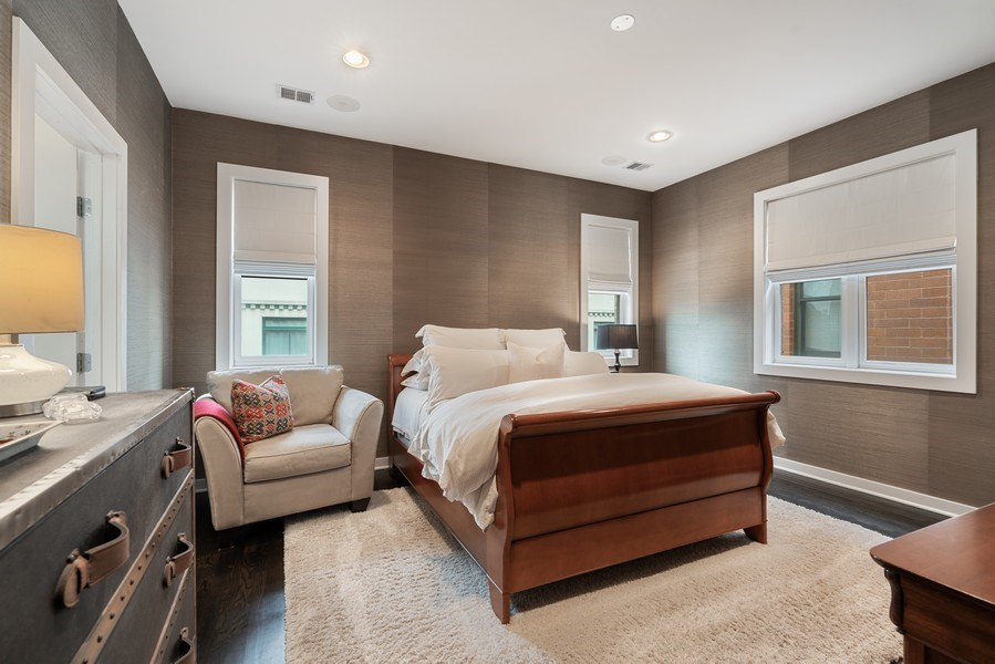 Real Estate Photography - 685 N. Peoria, #4S, Chicago, IL, 60642 - Master Bedroom
