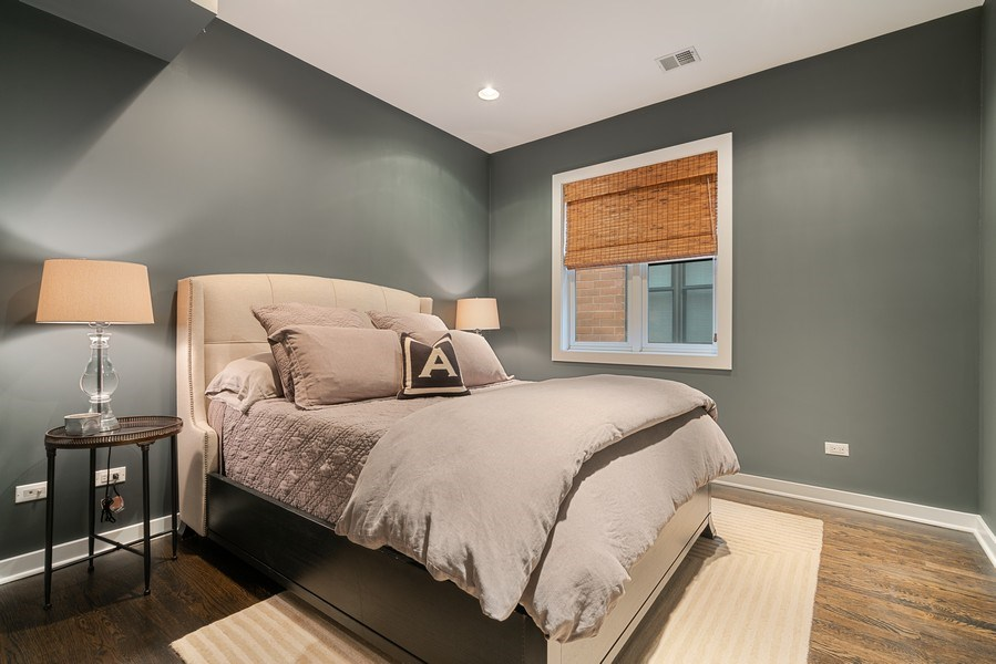 Real Estate Photography - 685 N. Peoria, #4S, Chicago, IL, 60642 - 3rd Bedroom