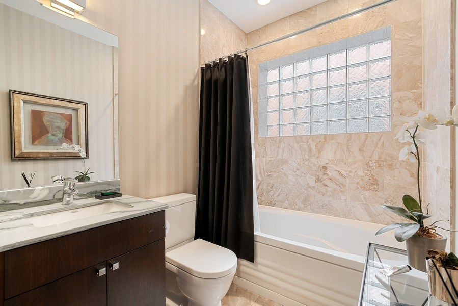 Real Estate Photography - 685 N. Peoria, #4S, Chicago, IL, 60642 - Bathroom