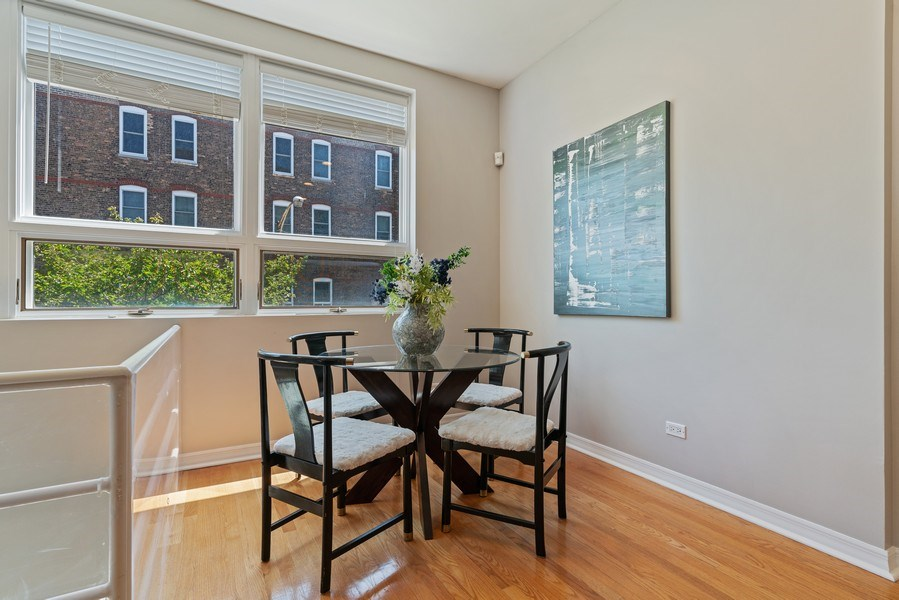 Real Estate Photography - 958 N. Wood, #A, Chicago, IL, 60622 - Dining Room