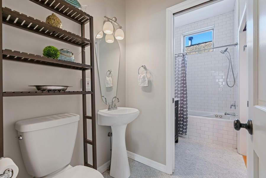 Real Estate Photography - 958 N. Wood, #A, Chicago, IL, 60622 - Bathroom