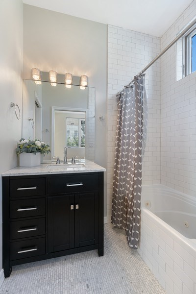 Real Estate Photography - 958 N. Wood, #A, Chicago, IL, 60622 - 2nd Bathroom