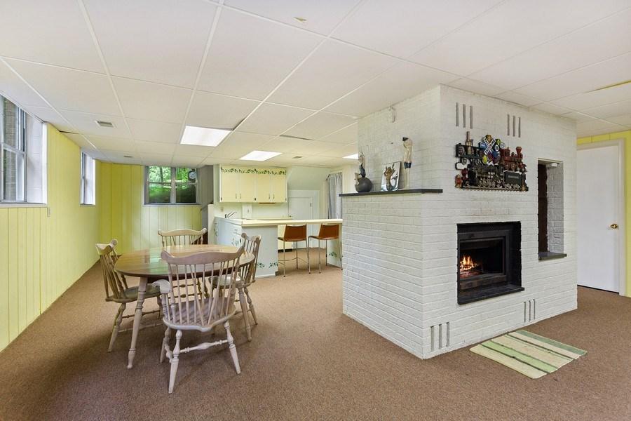 Real Estate Photography - 9715 Evergreen Drive, Bridgman, MI, 49106 - Rec Room Fireplace & Extra Kitchen