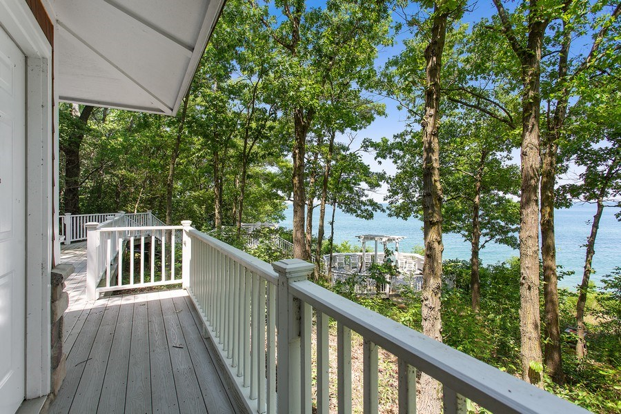 Real Estate Photography - 18636 Forest Beach Drive, New Buffalo, MI, 49117 - Forest Beach Sundeck