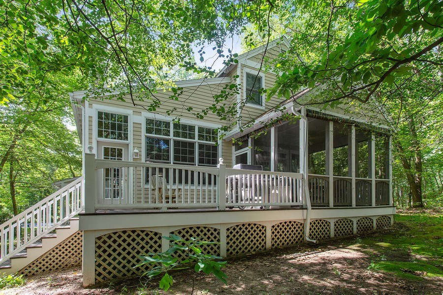 Real Estate Photography - 18636 Forest Beach Drive, New Buffalo, MI, 49117 - Rear View
