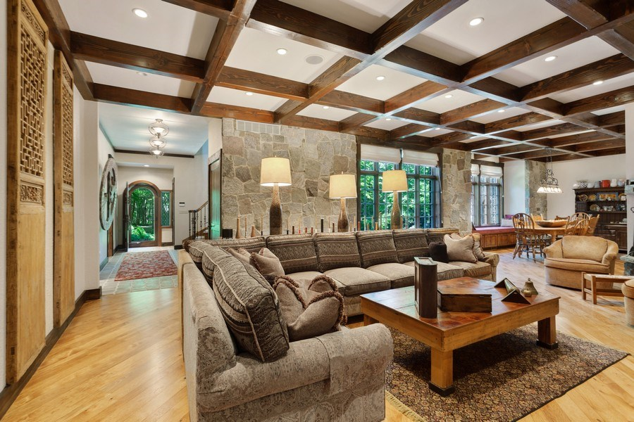 Real Estate Photography - 7020 Youngren Rd, Three Oaks, MI, 49128 - Living Room to Front Foyer