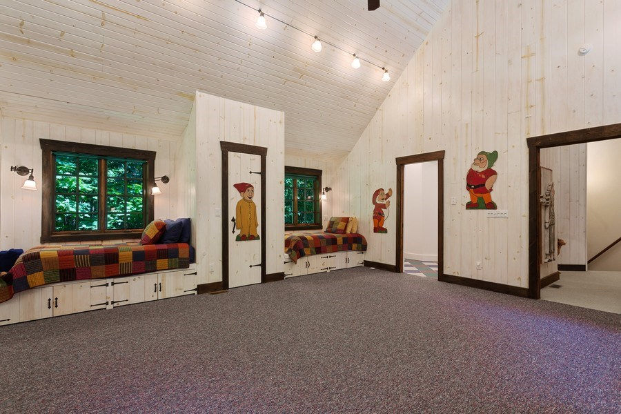 Real Estate Photography - 7020 Youngren Rd, Three Oaks, MI, 49128 - 4th Bedroom Bunk Suite to Bath