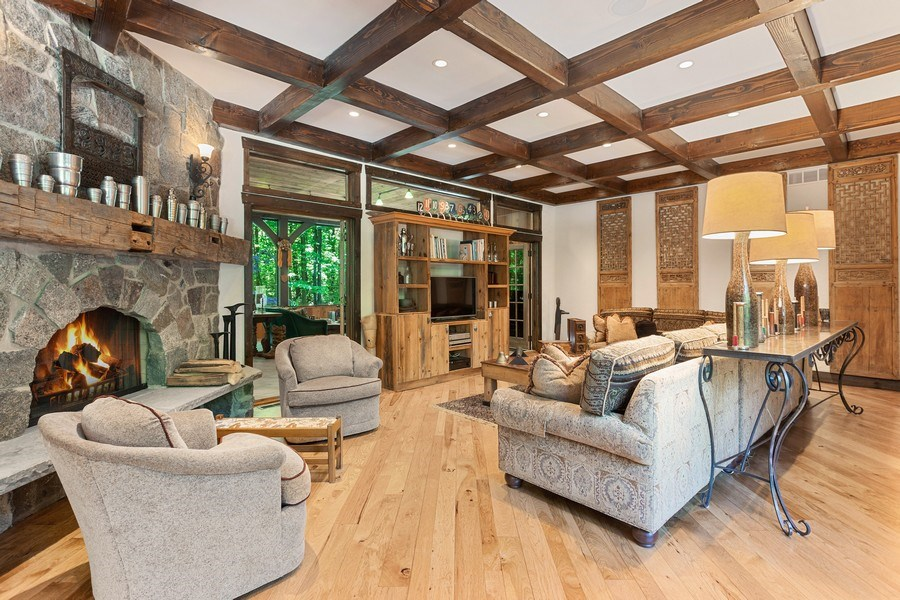 Real Estate Photography - 7020 Youngren Rd, Three Oaks, MI, 49128 - Living Room with Cozy Fireplace