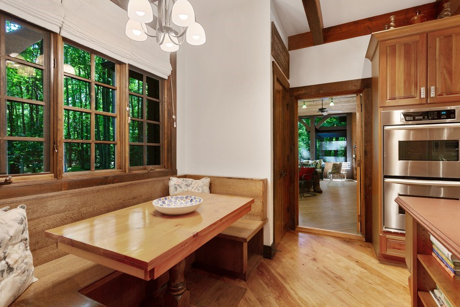 Real Estate Photography - 7020 Youngren Rd, Three Oaks, MI, 49128 - Kitchen Breakfast  Banquette