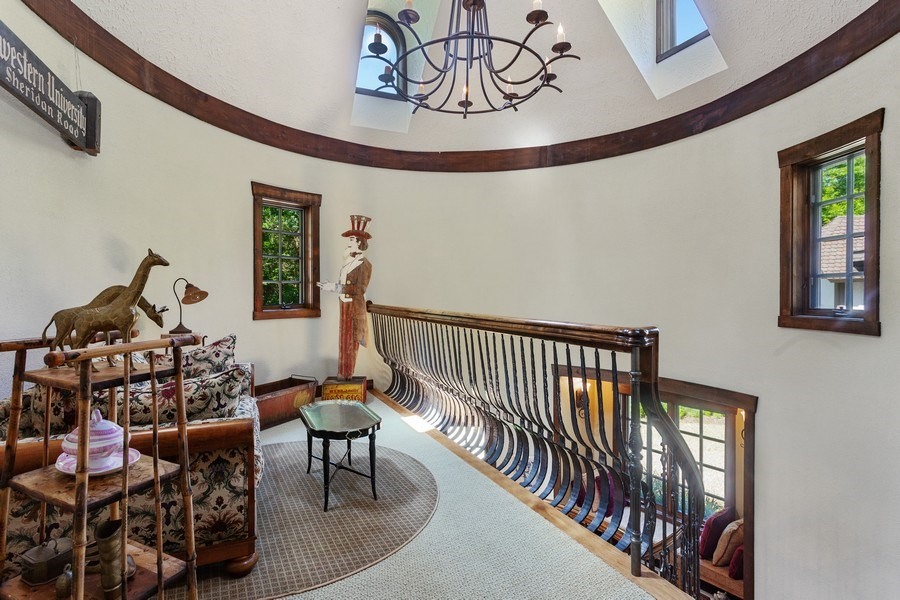 Real Estate Photography - 7020 Youngren Rd, Three Oaks, MI, 49128 - Front Stairway Landing