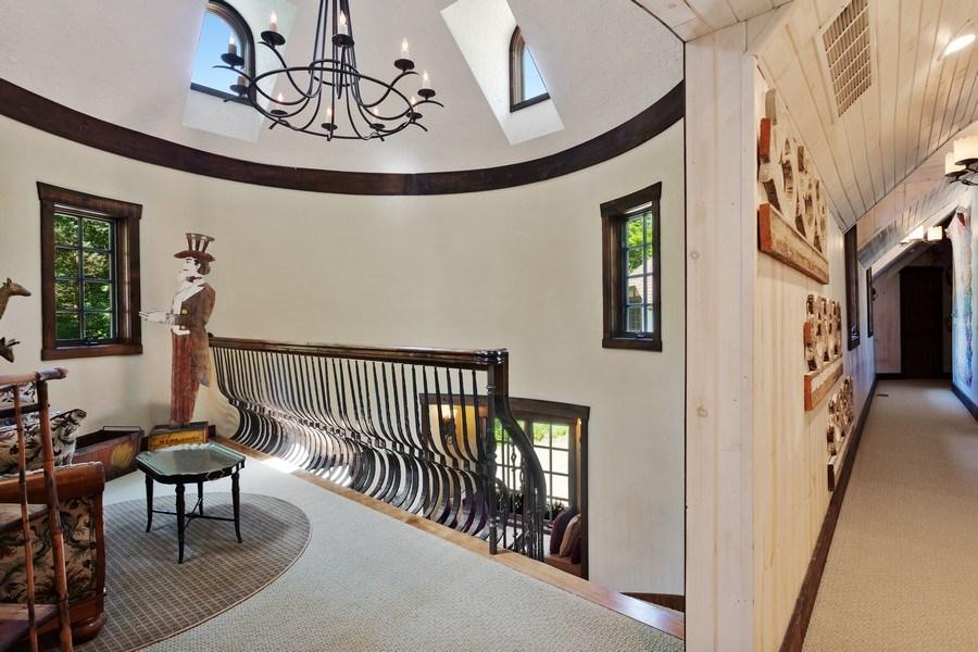 Real Estate Photography - 7020 Youngren Rd, Three Oaks, MI, 49128 - Front Stairway Landing to Second Floor Hallway