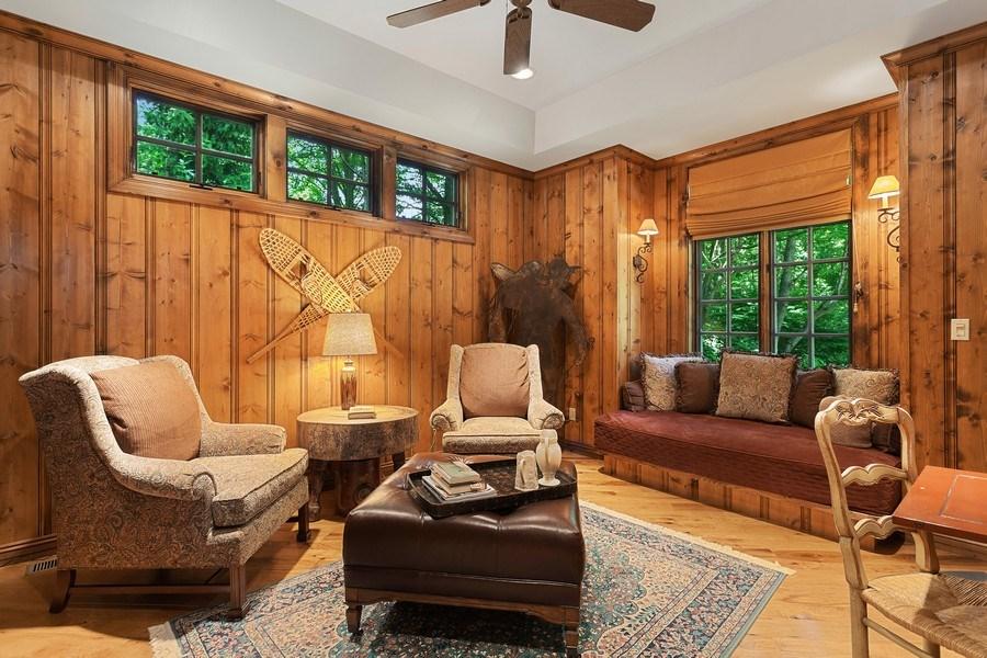 Real Estate Photography - 7020 Youngren Rd, Three Oaks, MI, 49128 - Library Den