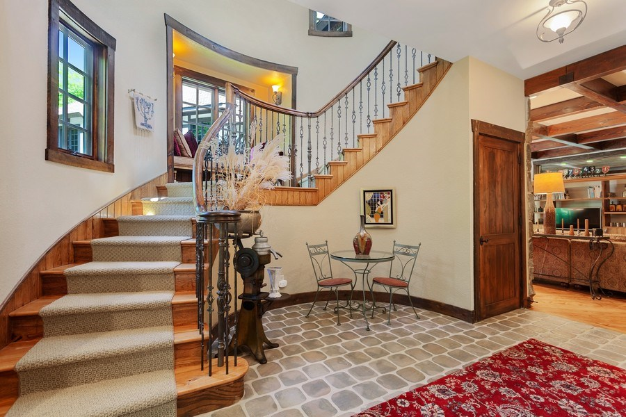Real Estate Photography - 7020 Youngren Rd, Three Oaks, MI, 49128 - Staircase