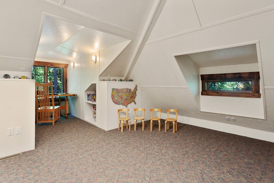 Real Estate Photography - 7020 Youngren Rd, Three Oaks, MI, 49128 - Upper Level Home Office & Game Room