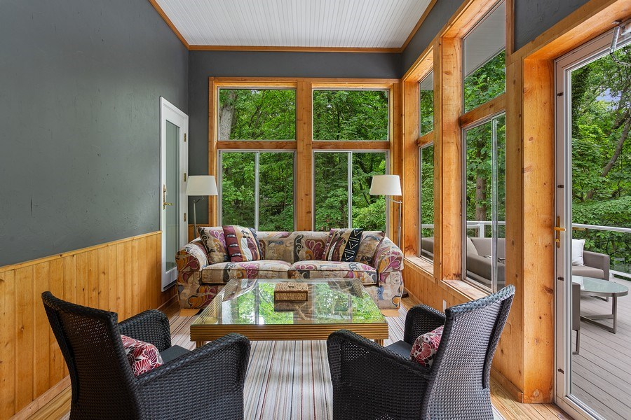 Real Estate Photography - 14458 Ridgeview Drive, New Buffalo, MI, 49117 - Sunroom