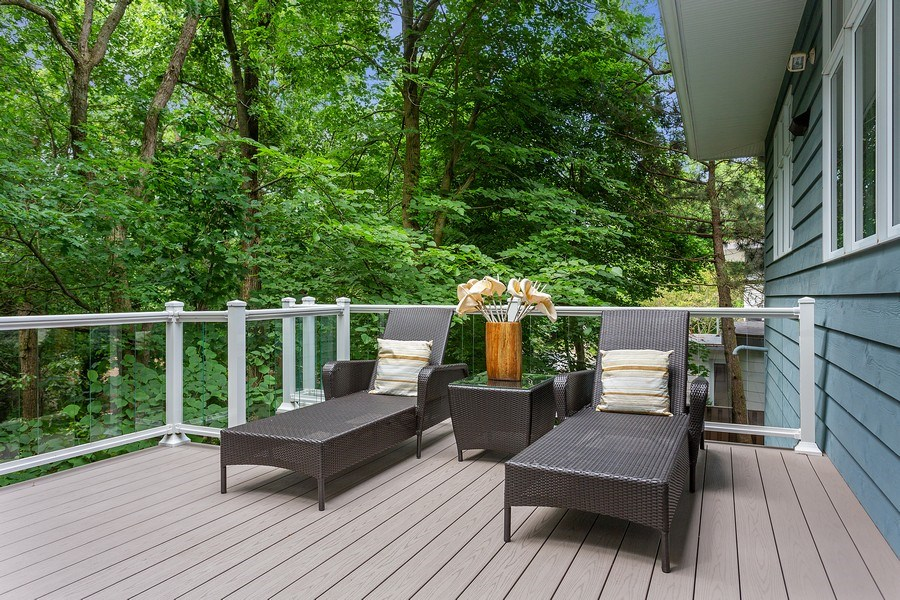 Real Estate Photography - 14458 Ridgeview Drive, New Buffalo, MI, 49117 - Lounge Area Deck