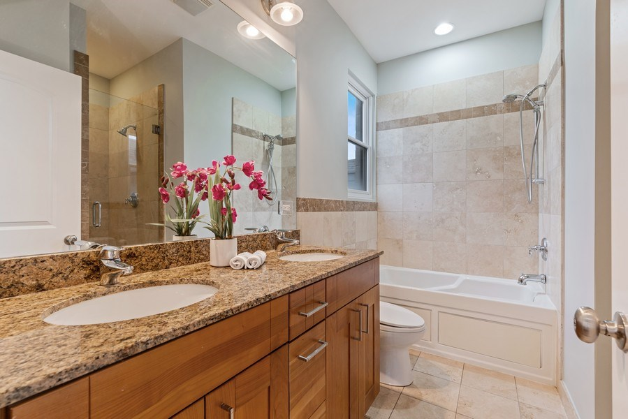 Real Estate Photography - 2217 W. Augusta, #2, Chicago, IL, 60622 - Master Bathroom