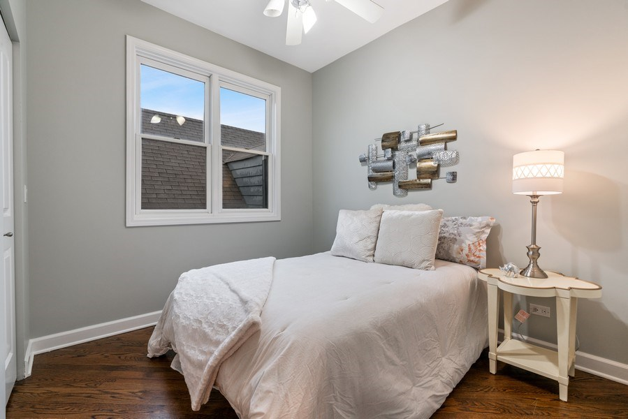 Real Estate Photography - 2217 W. Augusta, #2, Chicago, IL, 60622 - 2nd Bedroom