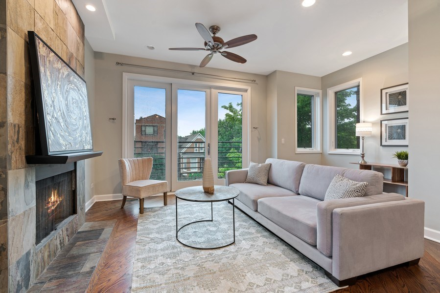 Real Estate Photography - 2217 W. Augusta, #2, Chicago, IL, 60622 - Living Room