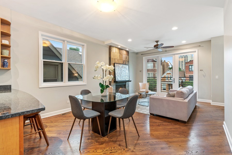 Real Estate Photography - 2217 W. Augusta, #2, Chicago, IL, 60622 - Living Room / Dining Room