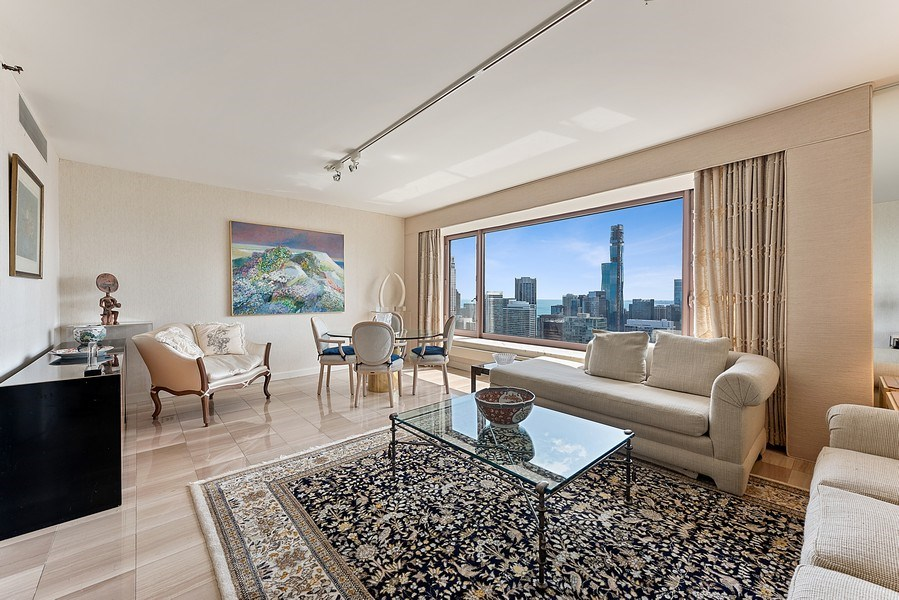 Real Estate Photography - 161 E Chicago Ave, Unit 43 C, Chicago, IL, 60611 - Living Room