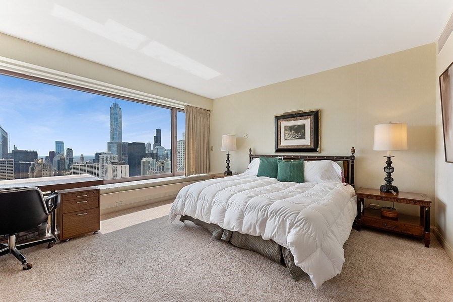 Real Estate Photography - 161 E Chicago Ave, Unit 43 C, Chicago, IL, 60611 - Master Bedroom
