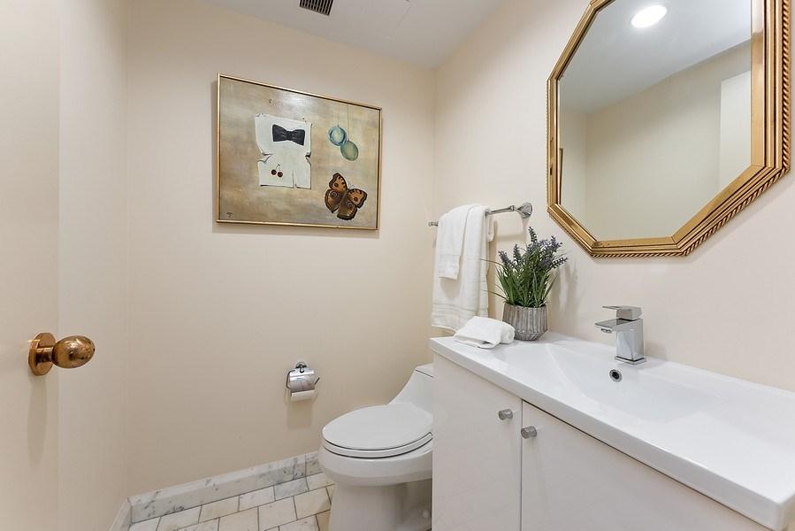 Real Estate Photography - 161 E Chicago Ave, Unit 43 C, Chicago, IL, 60611 - Half Bath