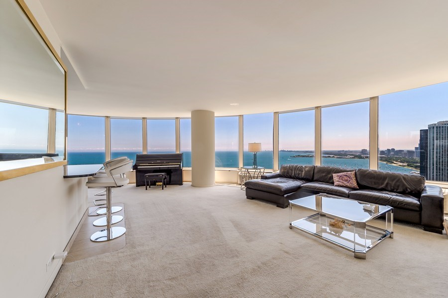 Real Estate Photography - 505 N Lakeshore Dr, Unit 3907, Chicago, IL, 60611 - Living Room