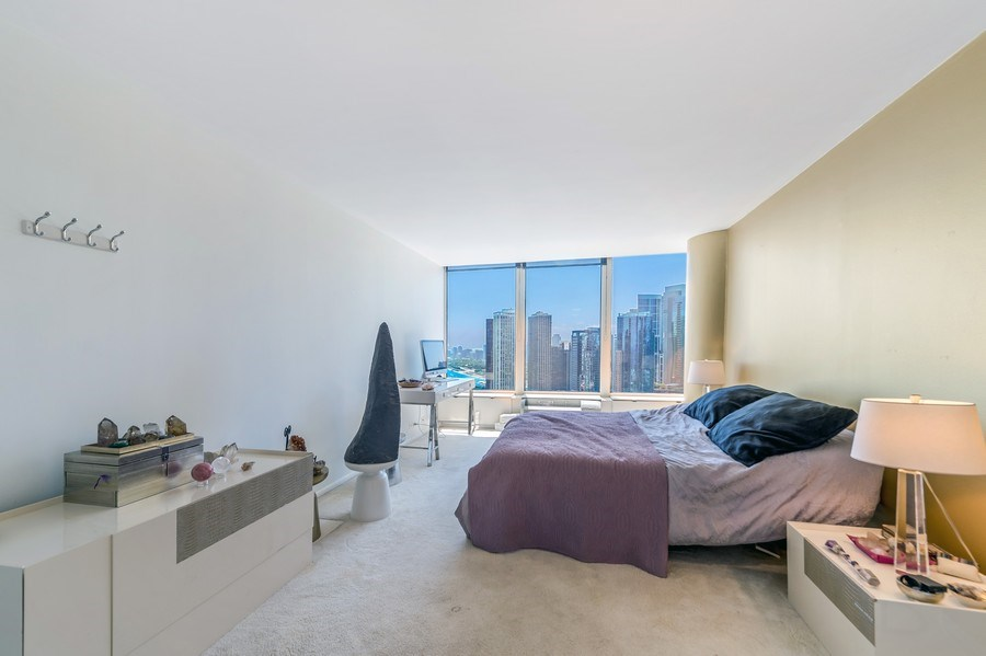 Real Estate Photography - 505 N Lakeshore Dr, Unit 3907, Chicago, IL, 60611 - Master Bedroom